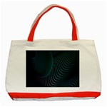 Line Light Blue Green Purple Circle Hole Wave Waves Classic Tote Bag (Red) Front