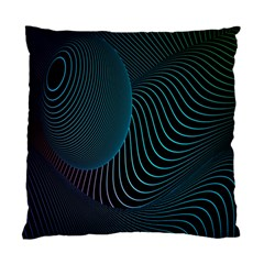 Line Light Blue Green Purple Circle Hole Wave Waves Standard Cushion Case (Two Sides)