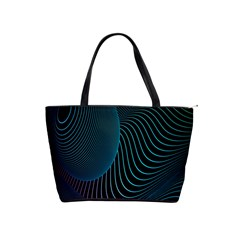 Line Light Blue Green Purple Circle Hole Wave Waves Shoulder Handbags