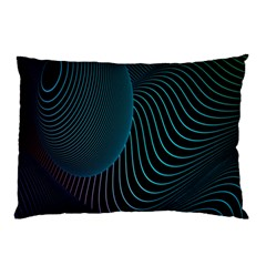 Line Light Blue Green Purple Circle Hole Wave Waves Pillow Case (Two Sides)