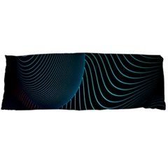 Line Light Blue Green Purple Circle Hole Wave Waves Body Pillow Case (Dakimakura)