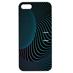 Line Light Blue Green Purple Circle Hole Wave Waves Apple iPhone 5 Hardshell Case with Stand