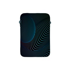Line Light Blue Green Purple Circle Hole Wave Waves Apple iPad Mini Protective Soft Cases