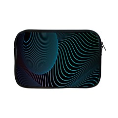 Line Light Blue Green Purple Circle Hole Wave Waves Apple iPad Mini Zipper Cases