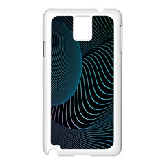 Line Light Blue Green Purple Circle Hole Wave Waves Samsung Galaxy Note 3 N9005 Case (White)
