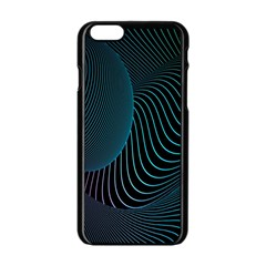 Line Light Blue Green Purple Circle Hole Wave Waves Apple iPhone 6/6S Black Enamel Case