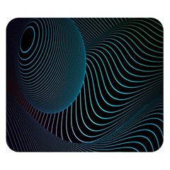 Line Light Blue Green Purple Circle Hole Wave Waves Double Sided Flano Blanket (Small)