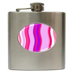 Pink Wave Purple Line Light Hip Flask (6 oz)