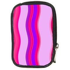 Pink Wave Purple Line Light Compact Camera Cases