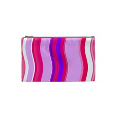 Pink Wave Purple Line Light Cosmetic Bag (Small)