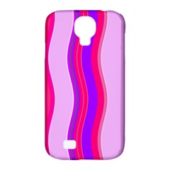 Pink Wave Purple Line Light Samsung Galaxy S4 Classic Hardshell Case (PC+Silicone)