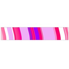 Pink Wave Purple Line Light Flano Scarf (Large)
