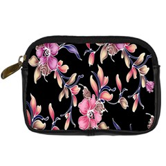 Neon Flowers Rose Sunflower Pink Purple Black Digital Camera Cases