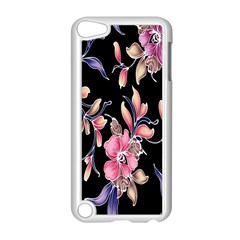 Neon Flowers Rose Sunflower Pink Purple Black Apple iPod Touch 5 Case (White)