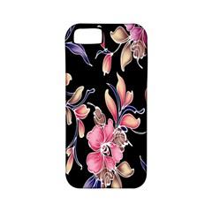 Neon Flowers Rose Sunflower Pink Purple Black Apple iPhone 5 Classic Hardshell Case (PC+Silicone)