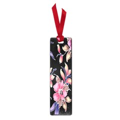 Neon Flowers Rose Sunflower Pink Purple Black Small Book Marks