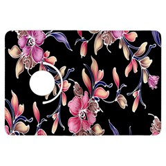 Neon Flowers Rose Sunflower Pink Purple Black Kindle Fire Hdx Flip 360 Case