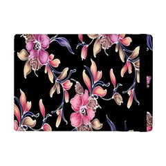 Neon Flowers Rose Sunflower Pink Purple Black iPad Mini 2 Flip Cases