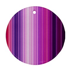Pink Vertical Color Rainbow Purple Red Pink Line Ornament (round)