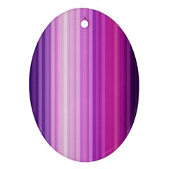 Pink Vertical Color Rainbow Purple Red Pink Line Ornament (Oval)