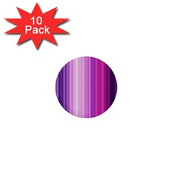 Pink Vertical Color Rainbow Purple Red Pink Line 1  Mini Buttons (10 Pack)