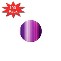 Pink Vertical Color Rainbow Purple Red Pink Line 1  Mini Magnets (100 Pack)