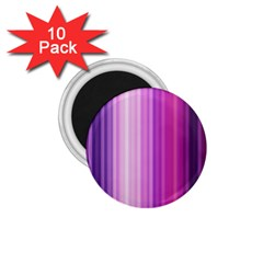 Pink Vertical Color Rainbow Purple Red Pink Line 1 75  Magnets (10 Pack)
