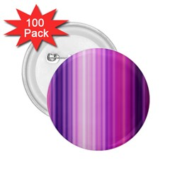 Pink Vertical Color Rainbow Purple Red Pink Line 2.25  Buttons (100 pack)