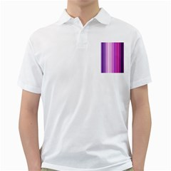 Pink Vertical Color Rainbow Purple Red Pink Line Golf Shirts