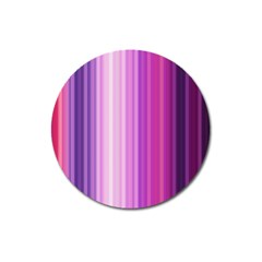 Pink Vertical Color Rainbow Purple Red Pink Line Magnet 3  (Round)