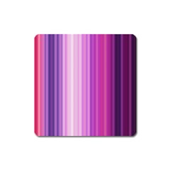 Pink Vertical Color Rainbow Purple Red Pink Line Square Magnet