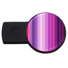 Pink Vertical Color Rainbow Purple Red Pink Line Usb Flash Drive Round (2 Gb)