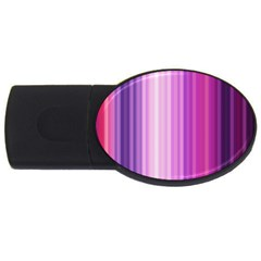 Pink Vertical Color Rainbow Purple Red Pink Line Usb Flash Drive Oval (2 Gb)