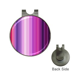 Pink Vertical Color Rainbow Purple Red Pink Line Hat Clips with Golf Markers