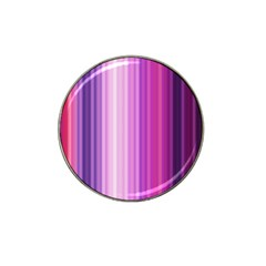 Pink Vertical Color Rainbow Purple Red Pink Line Hat Clip Ball Marker (4 pack)