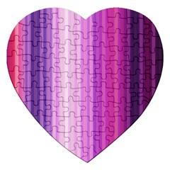 Pink Vertical Color Rainbow Purple Red Pink Line Jigsaw Puzzle (heart)