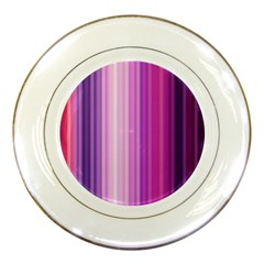 Pink Vertical Color Rainbow Purple Red Pink Line Porcelain Plates
