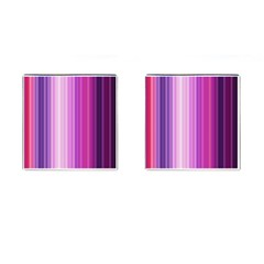 Pink Vertical Color Rainbow Purple Red Pink Line Cufflinks (square)