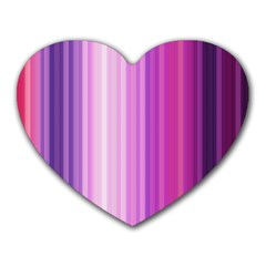 Pink Vertical Color Rainbow Purple Red Pink Line Heart Mousepads