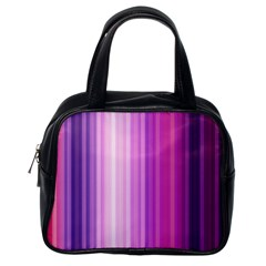 Pink Vertical Color Rainbow Purple Red Pink Line Classic Handbags (One Side)