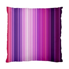 Pink Vertical Color Rainbow Purple Red Pink Line Standard Cushion Case (Two Sides)