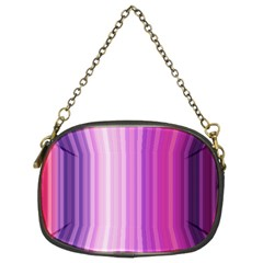 Pink Vertical Color Rainbow Purple Red Pink Line Chain Purses (Two Sides)