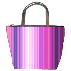 Pink Vertical Color Rainbow Purple Red Pink Line Bucket Bags