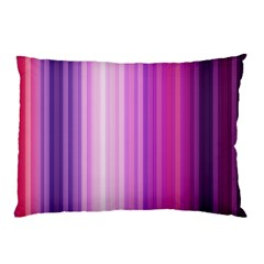 Pink Vertical Color Rainbow Purple Red Pink Line Pillow Case