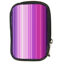Pink Vertical Color Rainbow Purple Red Pink Line Compact Camera Cases