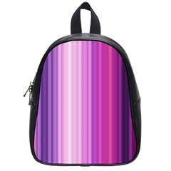 Pink Vertical Color Rainbow Purple Red Pink Line School Bags (small)