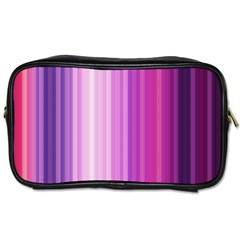 Pink Vertical Color Rainbow Purple Red Pink Line Toiletries Bags