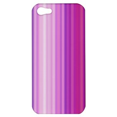 Pink Vertical Color Rainbow Purple Red Pink Line Apple iPhone 5 Hardshell Case