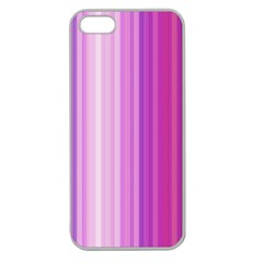 Pink Vertical Color Rainbow Purple Red Pink Line Apple Seamless iPhone 5 Case (Clear)