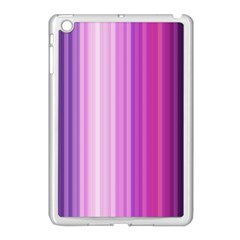 Pink Vertical Color Rainbow Purple Red Pink Line Apple iPad Mini Case (White)
